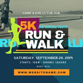 5K Run & Walk Instagram Post template