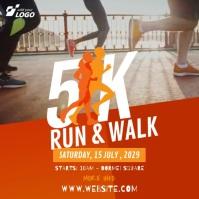 5K Run & Walk Instagram Post template
