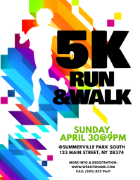 5K Run & Walk Flyer