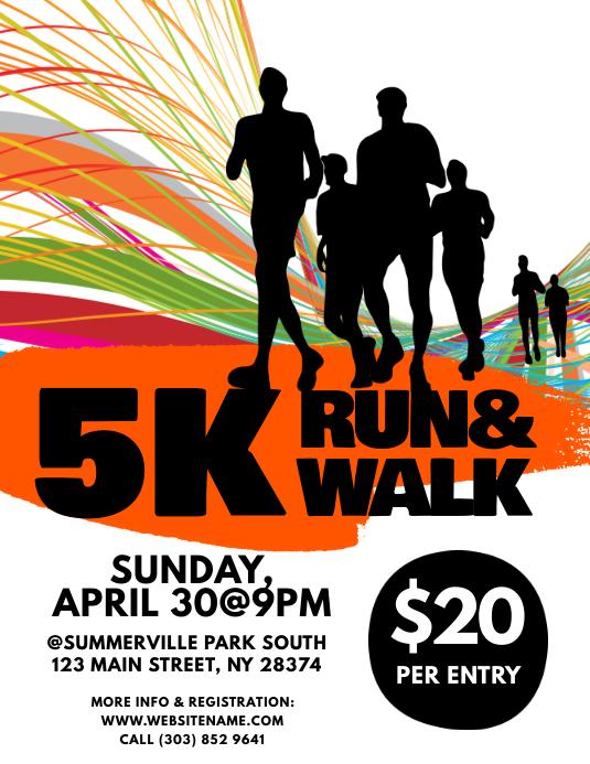 Copy Of 5k Run Walk Flyer Postermywall