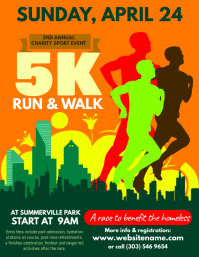 360 customizable design templates for 5k run race postermywall