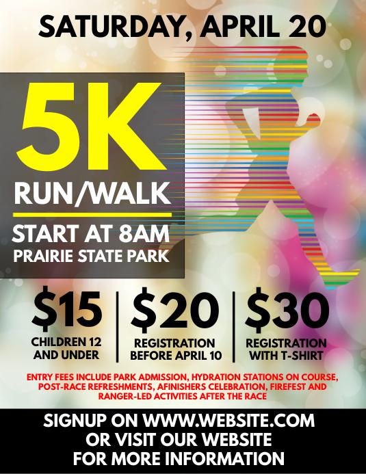 5k run flyer template postermywall