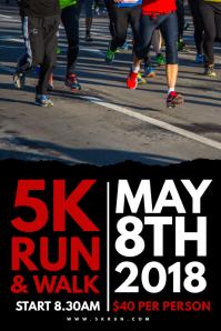 5K Run Poster Template