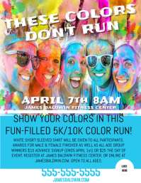 5k Run Flyer  Fun Poster Templates