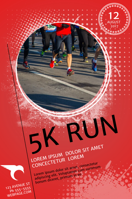 free 5k run flyer templates pike productoseb co
