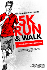 5k Run Running Flyer template