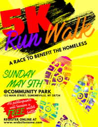 5K Run Walk Flyer