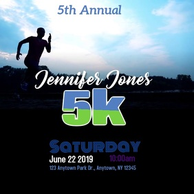 5k walk run fundraiser Instagram Post template