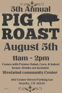 customizable design templates for hog roast postermywall