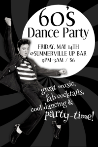 60's Dance Party Poster
