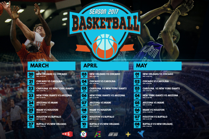 copy of sports schedule poster template
