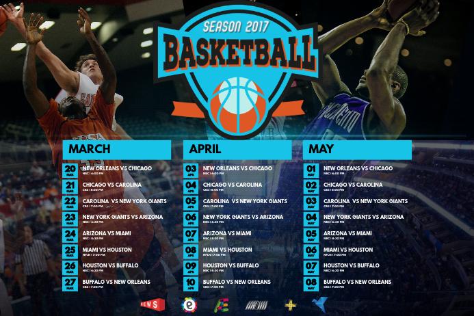 Sports Schedule Poster Template Plakkaat