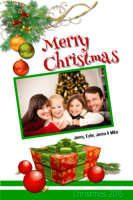 Christmas family card