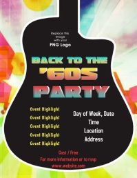60s party Flyer (US Letter) template