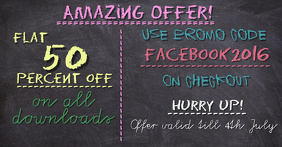 Discount Promotion Facebook Image Template