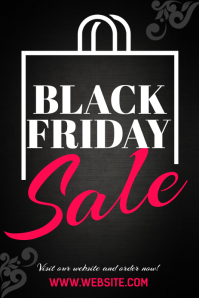 Black Friday Pinterest Image Template Pinterest-afbeelding