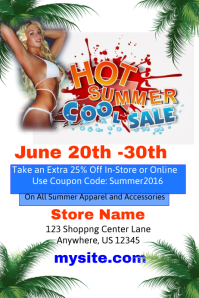 Hot Summer Cool Sales Event Template