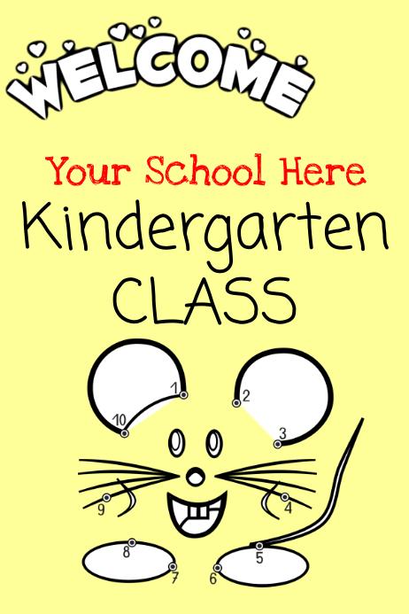 Welcome Kindergarten Class โปสเตอร์ template