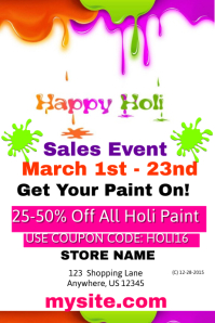 Happy Holi Sales Event Template