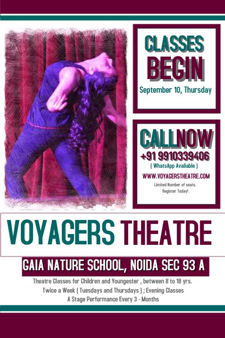 Theatre Classes Template