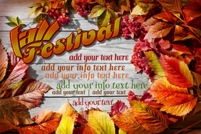 Fall Festival Autumn Art Poster Ad Business Event Invite Flyer Season Holiday