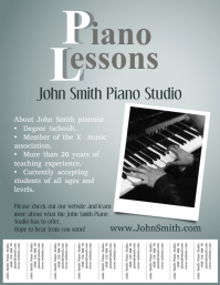 Music Lessons Template with Tabs