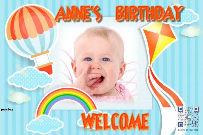 Welcome poster for birthday party