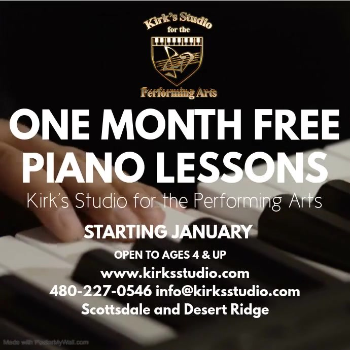 Piano Lessons Kwadrat (1:1) template