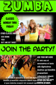 Customizable design templates for zumba fitness party postermywall customizable design templates for zumba fitness party stopboris Image collections