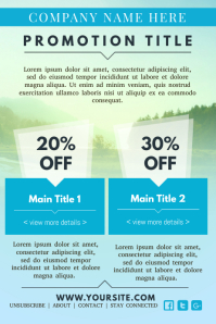 Promotional Newsletter Design Template
