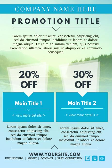 Promotional Newsletter Design Template