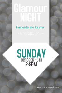 Glamorous silver event poster