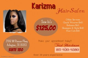 Charisma Hair Salon Poster