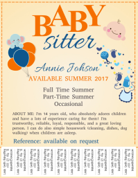 Babysitting Template With Tabs. Babysitting. Babysitting Flyer Template  Flyer Outline