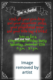 Chalkboard Border Invitation Announcement Poster Flyer Party