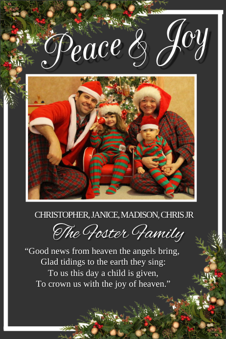 customize 1590 christmas cards design templates postermywall