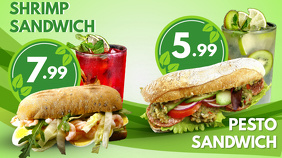 Sandwiches Digital Menu Template