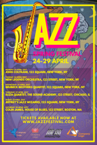 Jazz Concert Schedule Poster Template