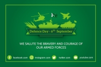 6th September Defence Day Poster Etiket template