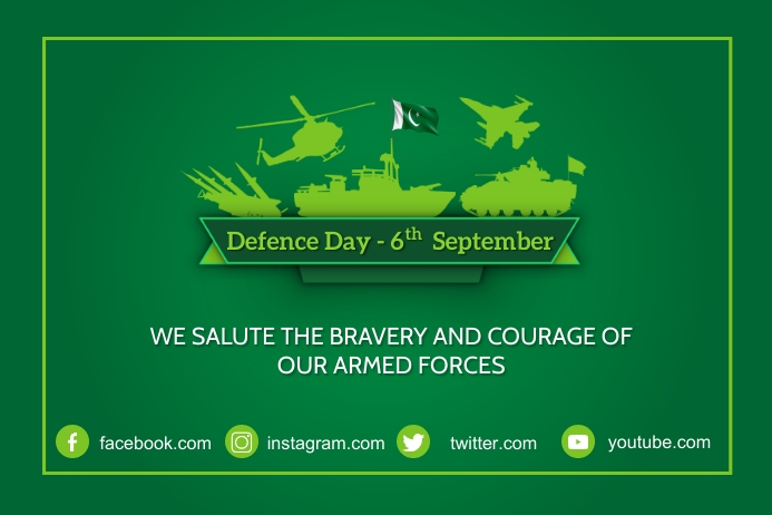 6th September Defence Day Poster Label template