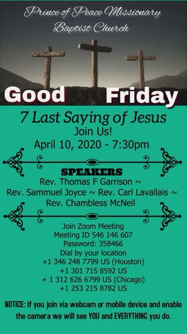 7 Last Saying of Jesus Tampilan Digital (9:16) template
