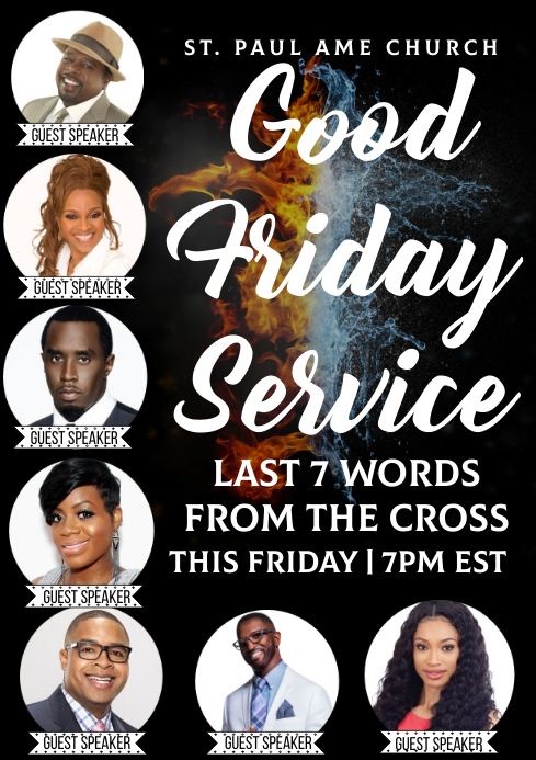 7 Last Words Good friday A4 template