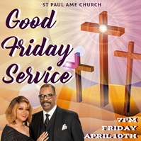 7 Last Words of God Good friday church worship Instagram Post template