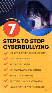7 Steps to stop Cyberbullying Infographic