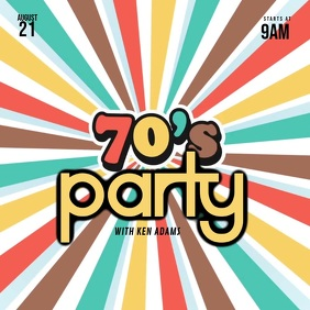 70´s Party Video Template
