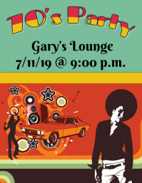 70's Party Flyer (US Letter) template