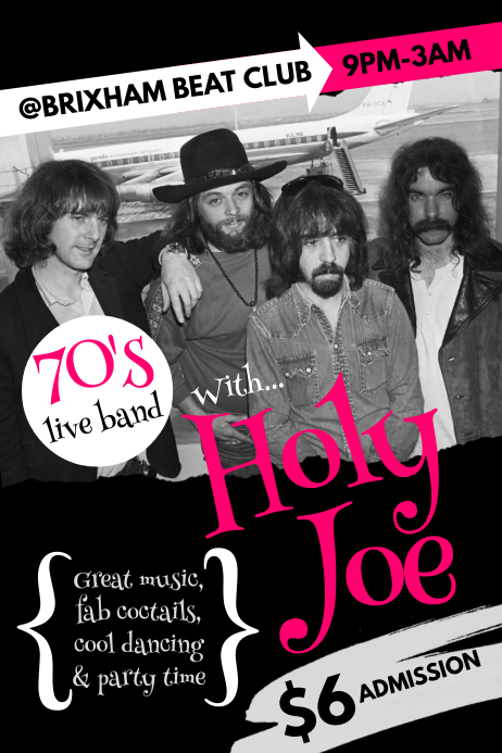 70's Live Band Poster Póster template