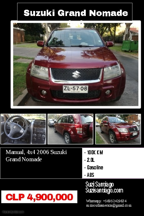 Copy of Auto sale poster with photo, description and specifications