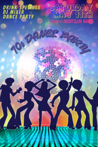 70s Dance Party Club Poster Template