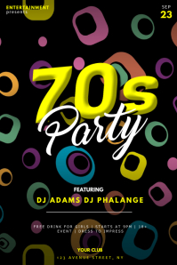 70s party flyer template